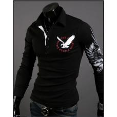 Свитшот, кофта черного цвета с принтом на спине  M-XXL