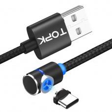 Кабель магнитный TOPK AM21 USB-Type C USB 2м black
