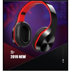 Наушники Bluetooth Amoi T5 чёрно-красные