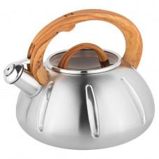 Чайник со свистком Unique UN-5303 (3 л) из нержавеющей стали, для всех типов плит