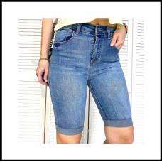 Шорты женские джинсовые с царапками чиние стрейчевые 25-30р код 3748 (Н)
