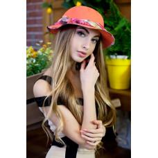 Шляпа-панама «Мелиса» (оранжевый) Braxton