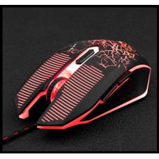 Проводная игровая мышь Jishun X790 трещина 6D с подсветкой
