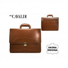 Портфель натуральная кожа производство Италия Cavaldi Коричневый