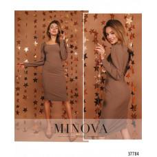 Женское нарядное платье-футляр размер 42-44, 44-46 -Мокко