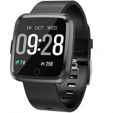 Смарт часы Alfawise Y7- Чёрный  частота сердечных сокращений, давление сердца, насыщение кислородом и мониторинг сна