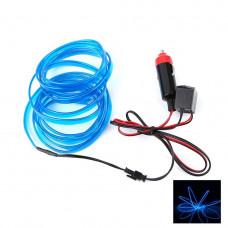 Светодиодная неоновая подсветка LTL для автомобиля 3 метра DC 12v Blue (927340598)