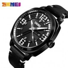 Спортивные часы Skmei 1351 черные  водонепроницаемый (5АТМ)