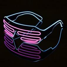 Очки светодиодные El Neon неоновые spiral ice blue Pink (902800537)