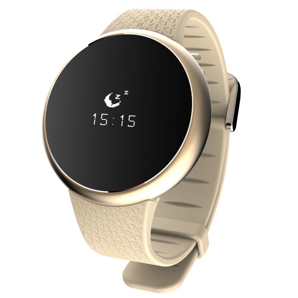 Фитнес часы A98  золотые  Датчики сердечного ритма, кислорода крови, артериального давления, Обнаружение усталости.