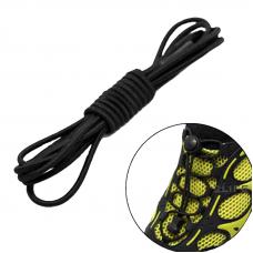 Шнурки для обуви с затяжкой, универсальные, эластичные, неразвязывающиеся 2Life 100 см Черный (n-522)