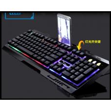 Клавиатура с смартфоном Leopard G700 LED