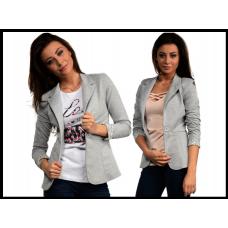 Пиджак Boyfriend женский, Италия, на пуговице, серый