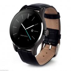 K88H умные смарт часы с пульсометром  кожаный браслет