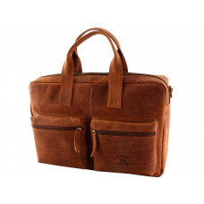 Кожаная мужская сумка бренд Always Wild коричневая