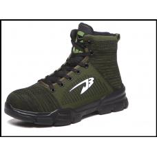 Защитные кроссовки мужские высокие размер 36-48 зеленые