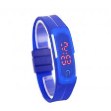 Наручные LED часы браслет синий