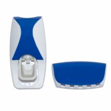 Дозатор для зубной пасты с держателем для щёток Jinxin-300 Синий (n-579-1)