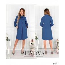 Женское повседневное платье -джинсовый