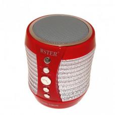 Портативная Bluetooth колонка со светомузыкой WSTER WS-1805 Red (111279)