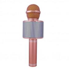 Беспроводной караоке микрофон Wster WS 858 Розовое золото (113)