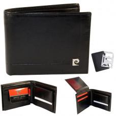 Кожаный мужской бумажник бренд  Pierre Cardin Франция