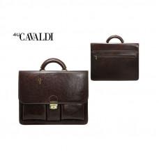 Портфель мужской из экокожи Cavaldi Eco цвет  коричневый