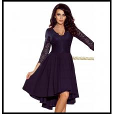 Праздничное платье с гепюровым верхом Numoco Nicolle оригинал, фиолетовый