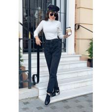 Стильные черные джинсы мом для девушек. Размер 44,46,48