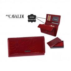 Женский кошелек натуральная кожа Cavaldi Польша (красный) код 362