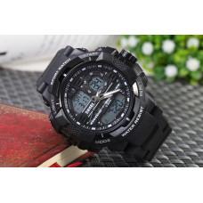 Спортивные часы Skmei 1164 черные  50 m водонепроницаемый (5АТМ)