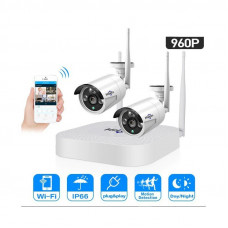 Комплект WiFi видеонаблюдения Hiseeu 2ch 960P