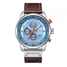 Мужские наручные часы Curren Silver-Blue (8291SB)