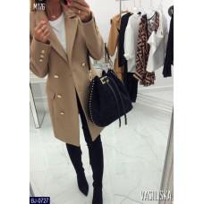 Кашемировое пальто на пуговицах. Цвет- гусиная лапка, Размер: S-M