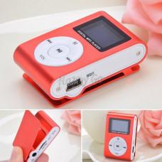 MP3 мини плеер MX-801FM  мини с экраном С памятью 8GB прищепкой красный