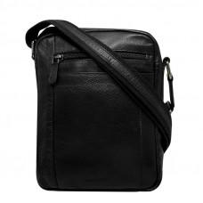 Мужская сумка  через плечо из натуральной мягкой кожи ALWAYS WILD (Польша)  код 001