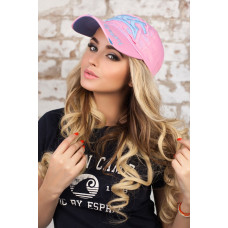Бейсболка «Брассия» (розовый + голубой) Braxton