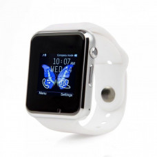 Умные часы Smart Watch A1 белые  Sim карта + камера