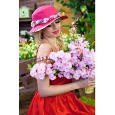 Шляпа-панама «Мелиса» (малиновый) Braxton