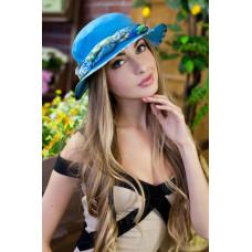 Шляпа-панама «Мелиса» (бирюзовый) Braxton