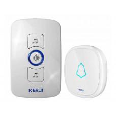 Дверной звонок Smart Kerul M 525 беспроводной 2 приемника 1 кнопка 2 ресивера 1 звонок Белый