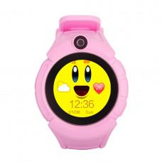 Смарт  часы с GPS-трекером T10 розовые  c Камерой и фонариком