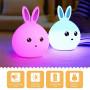 Детский 3D ночник Man rabbit из силикагеля без проводов Аккумулятор 1200маH  сертификат качества. Распродажа!