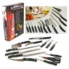 Набор ножей и ножницы Miracle Bland 13 в 1, нержавеющая сталь, с подставкой
