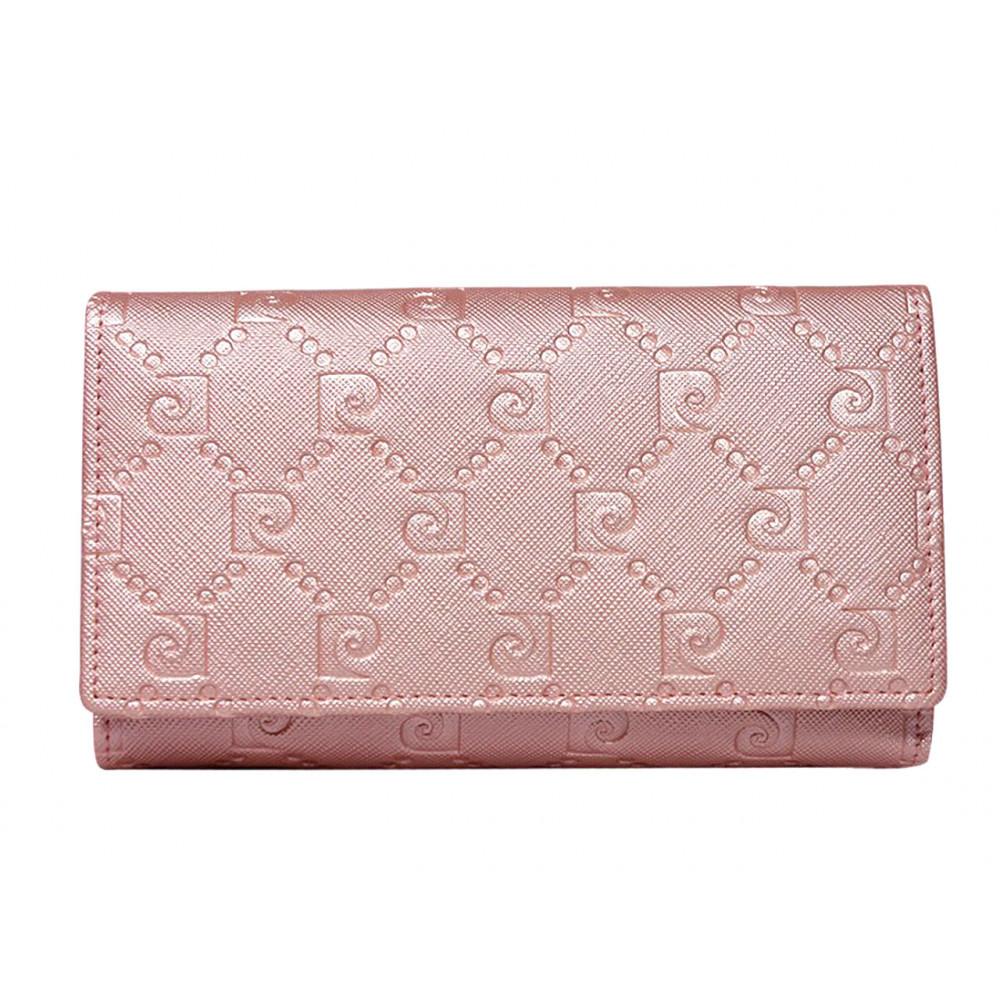 Женский кошелек Pierre Cardin натуральная кожа светло-розовый
