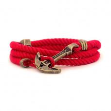 Браслет с якорем MARITIME Scarlet Sails Красный (mt1202)