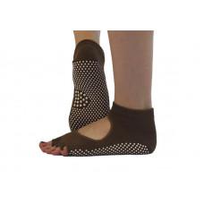 Носки для йоги нескользящие RAO Коричневые (hub_INRM22223)
