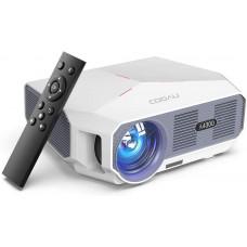 Проектор COOAU 5500 люмен, экран 1080P и 200 дюймов с динамиками Hi-Fi