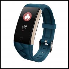 Смарт браслет T20 цветной дисплей- Синий Шагомер, уведомления о вызовах и смс, пульсометр, датчик давления