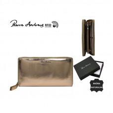 Кожаный кошелек Pierre Andres N511-METALLIC золотой